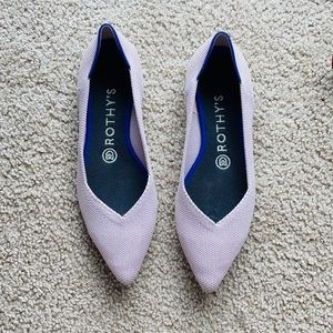 ROTHY'S THE POINT FLAT IN PETAL PINK rare